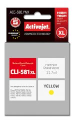 Activejet tusz do Canon CLI-581Y XL new ACC-581YNX..