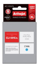 ACJ tusz Canon CLI-551C with chip ACC-551CN