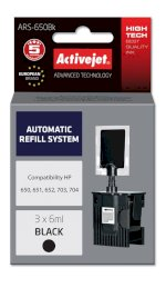 ActiveJet Automatic Refill System HP 703/704/650 Bk    3x6ml ARS-650 Bk
